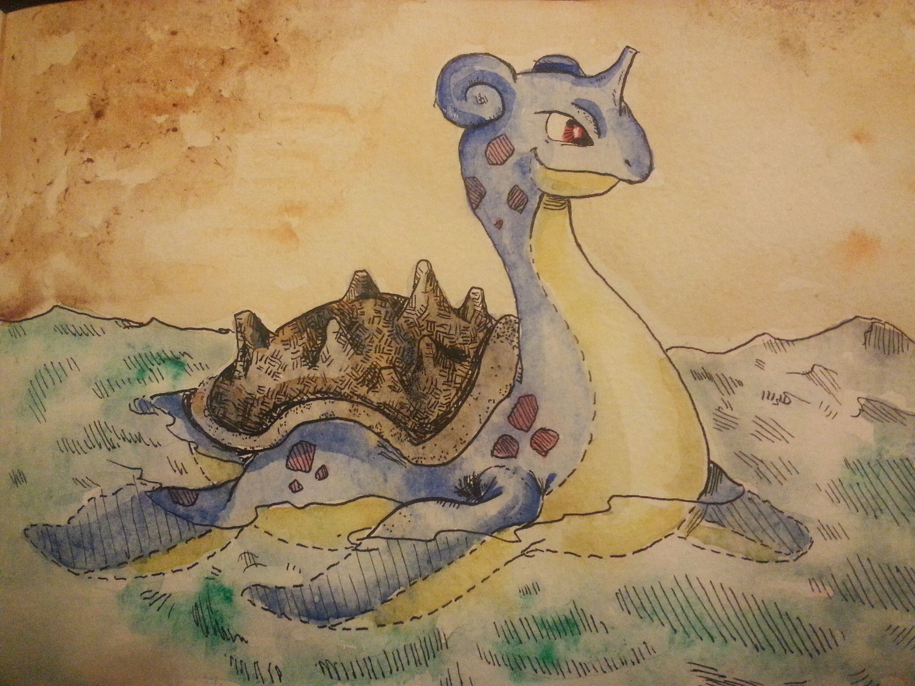 Inktober 2017 – Day 13 – Lapras Friday